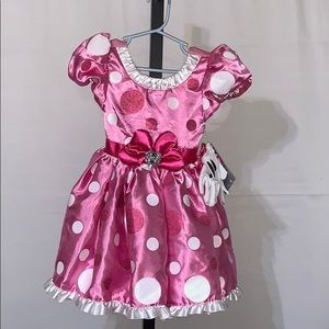 NWT Disney Store Minnie Mouse Costume Dress size 3